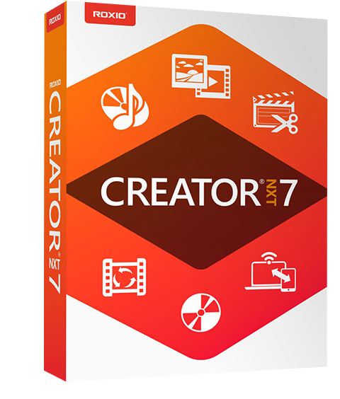 CD Burning, DVD Burning, and Multimedia Suite ‒ Creator NXT 7 by Roxio
