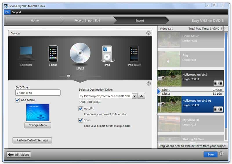 vhs to dvd capture software free download