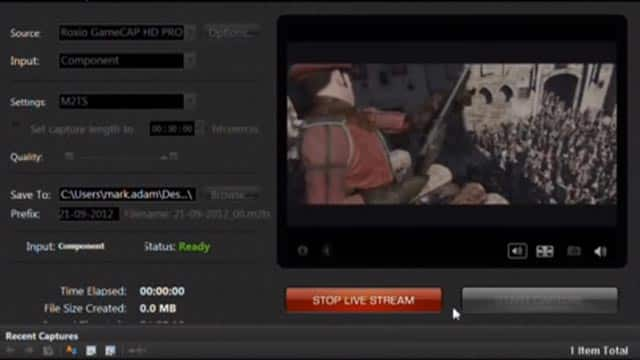 Live Stream to Twitch from Roxio Game Capture HD PRO